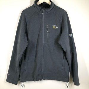 Mountain Hardwear Polartec Zip up fleece jacket Gray XL